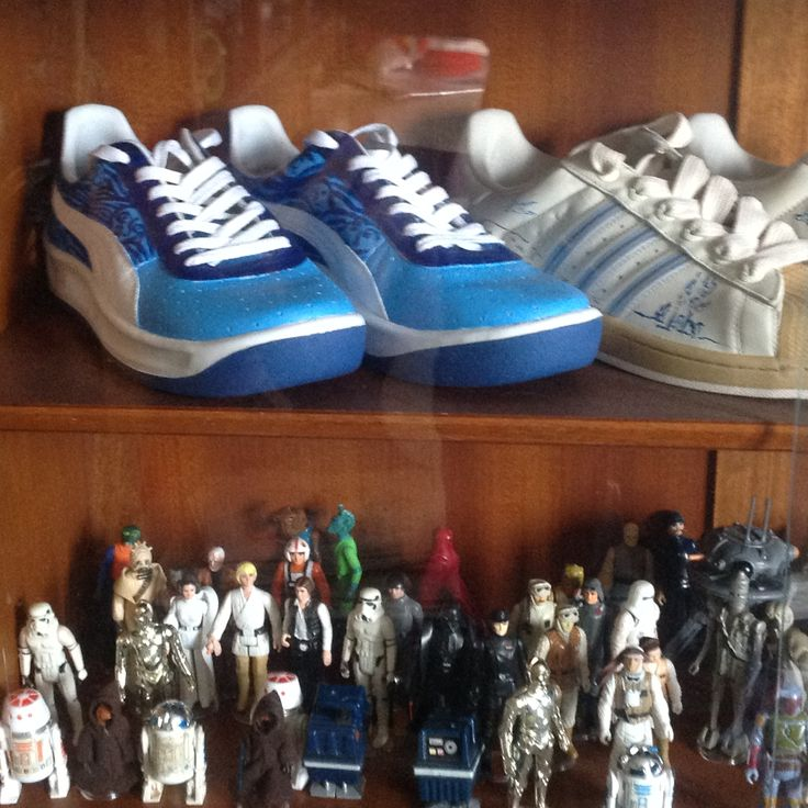 Hand painted trainers / sneakers and more star wars toys