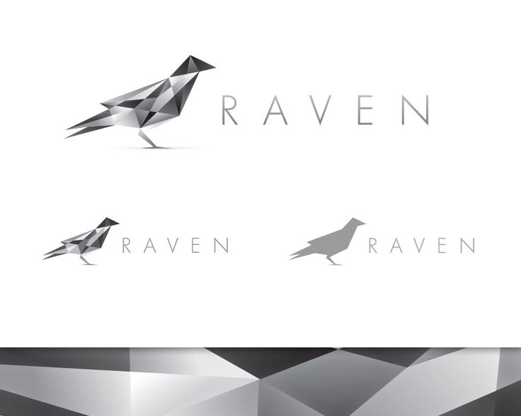 Raven logo design - Yes, this effect is getting cliché, but remains awesome :) ~ via blog.spoongraphics.co.uk