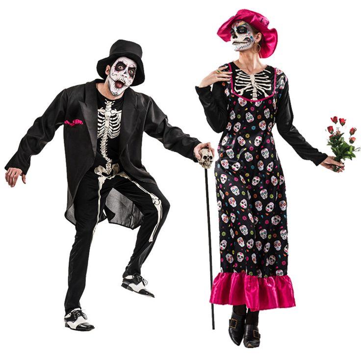 Pareja Esqueletos Catrina #tienda #disfraces #halloween #novedades