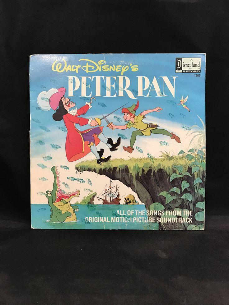 PETER PAN RECORD, Vintage Peter Pan recording, Walt Disney's Peter Pan record, Disneyland Record, soundtrack record, Peter Pan soundtrack by TheJellyJar on Etsy