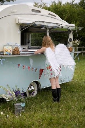 Sweetest camper pic!  Love the boots and fairy wings. Perfection!