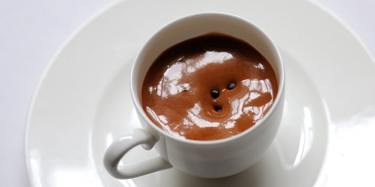 Warm chocolate emulsion