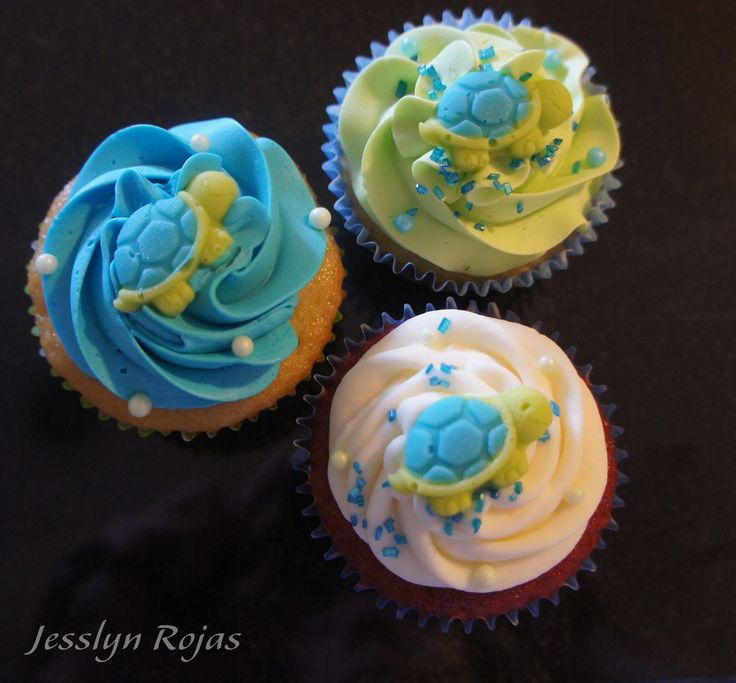 Turtle cupcakes baby shower ideals pinterest turtle