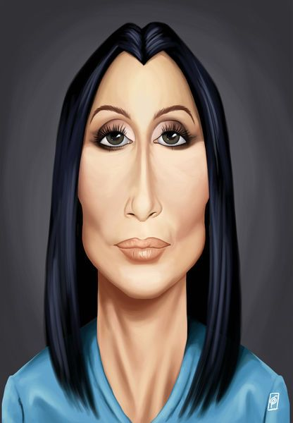 'Celebrity Sunday - Cher' by rob-art on artflakes.com as poster or art print $14.38 art   decor   wall art   inspiration   caricatures   home decor   idea   humor   gifts