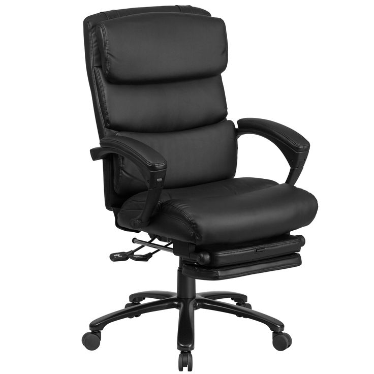 Flash Furniture Leather Reclining Office Chair (Black)