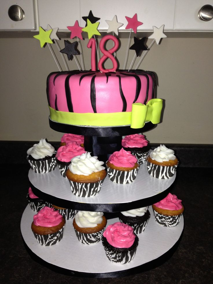 18th birthday cake and cupcakes cakes pinterest for 18th birthday cake decoration