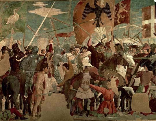 La battaglia di Eraclio e Cosroe-Piero della Francesca