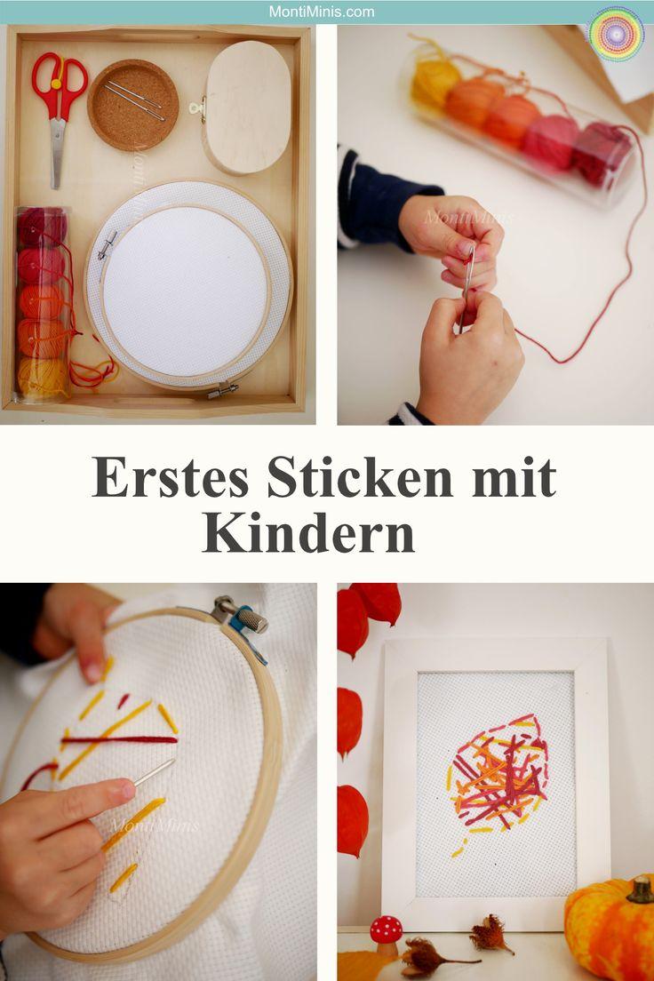 Erste Stickerei mit Kindern