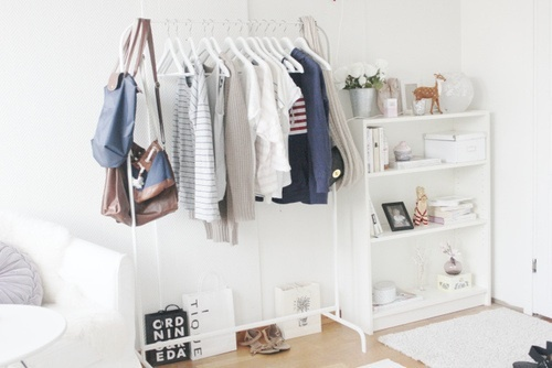 closet | Tumblr: Dreams, Open Spaces, Rooms Inspiration, Clothing Racks, Interiors, White Rooms, Closet, Bedrooms Decor, Clothing Hangers