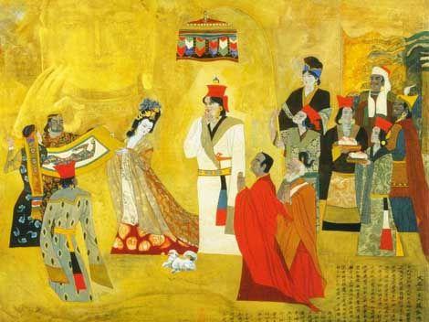 TIBET - El matrimonio de la Princesa Wencheng con el gobernante Songtsan…