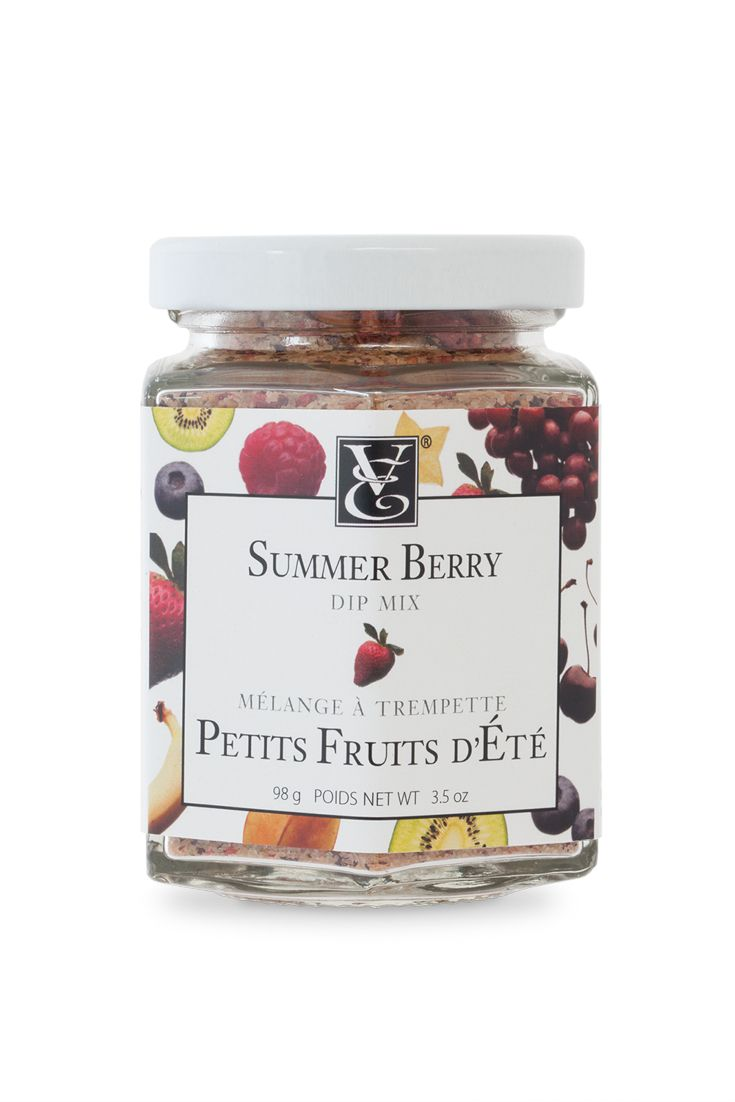 NEW BLEND! Summer Berry Dip Mix - Capture the juicy flavour of freshly picked summer berries with this fragrant blend of raspberries, strawberries, organic cane sugar, hibiscus, and rooibos. Dip fruit, warm cookies, and Perfect Petites. Add to blueberry muffin batter or make a beautiful simple syrup for fruit cocktails. #kosher #nosodium