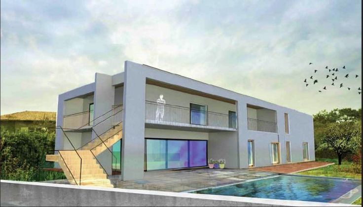 Vente maison neuve contemporaine 8 pieces 305m2 avec for Maison neuve contemporaine