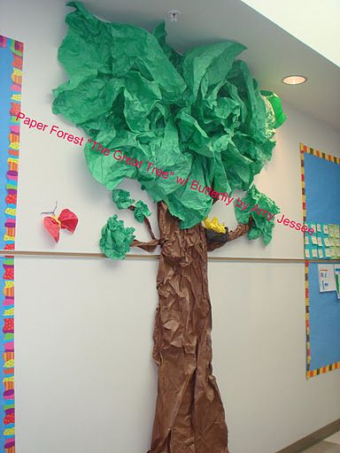 how to make a tree trunk out of paper