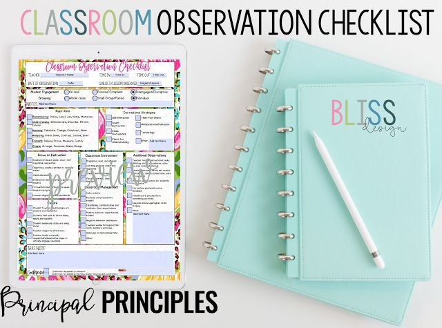 Collaborative Teaching Observation Form : Best principal principles school leadership images