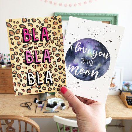 Home - De website van liefskarlijn! Bla Bla Bla, I love you to the moon, watercolor painting