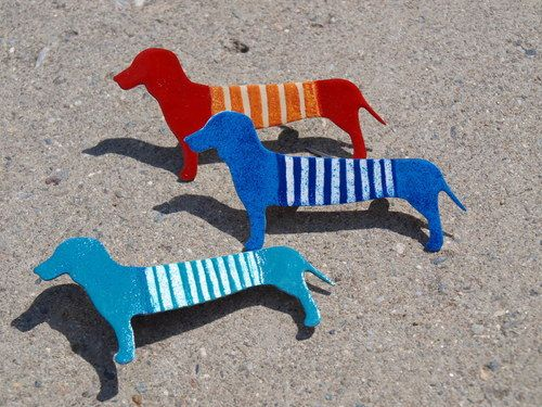 Dachshund Brooch Stainless Steel Weiner Dog Brooch by CinkyLinky