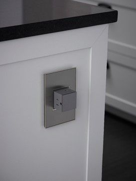 Pop-out outlet for a kitchen island #adornebylegrand