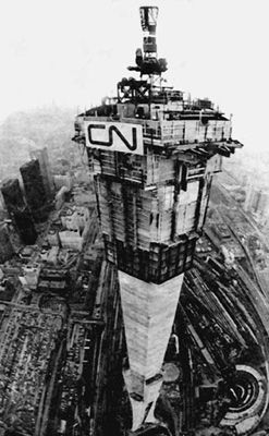 Back in the day...The Unfinished CN Tower