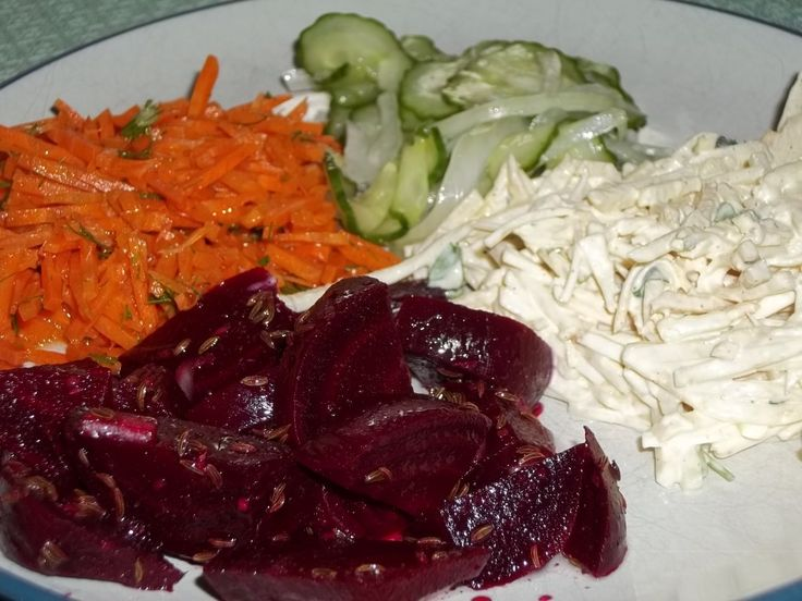 Get a taste of Germany with these four easy and delicious German salad recipes!  You'll find recipes for German Beet Salad, German Celery Root Salad, German Carrot Salad and German Cucumber Salad.