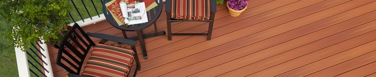 Easy-to-maintain and competitively-priced, Fiberon ProTect Advantage composite decking has deep tones and realistic wood grain patterns. Available in three multichromatic colors, each with subtle streaking to mimic natural hardwoods.