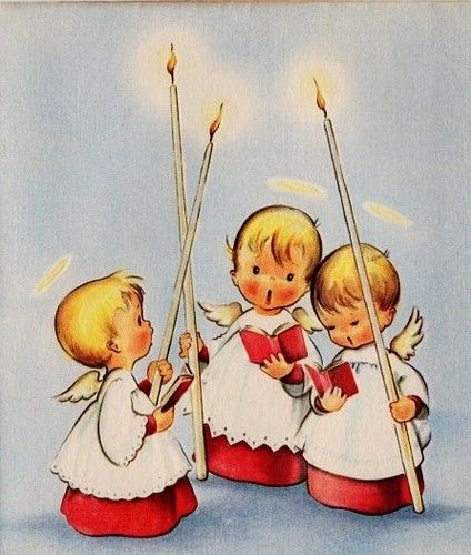 Mamma and Pappa used to get cards with little guys like these.