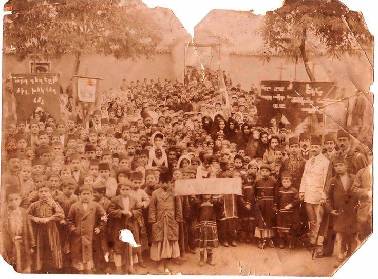 kharpert armenia in 1900 | An Armenian gathering. Kharpert/Harput (or Mezre) (Source: Dzovig ...