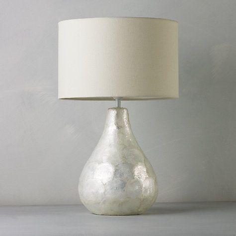 John Lewis Pearl Dual Lit Capiz Shell Table Lamp John