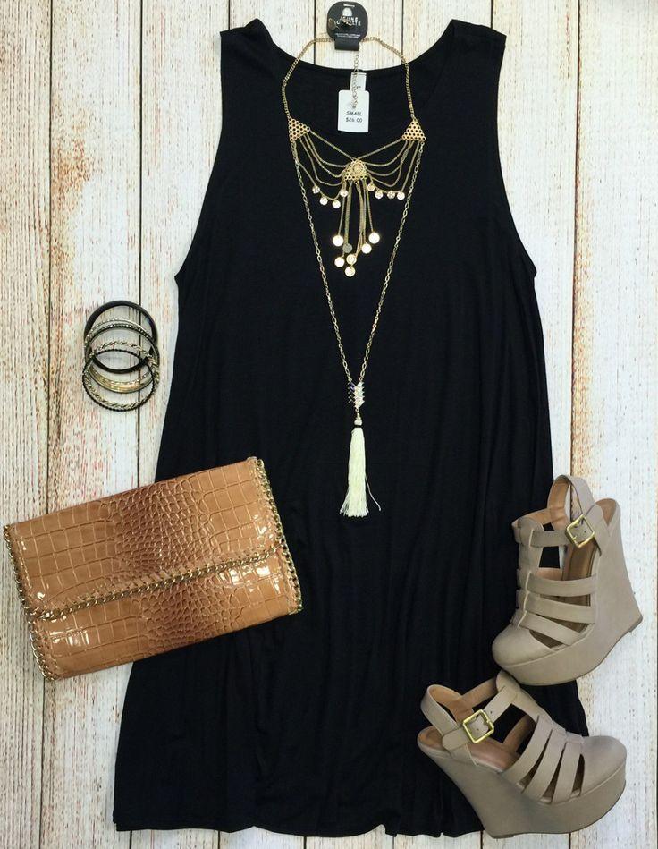 Back at It Tunic Dress: Black