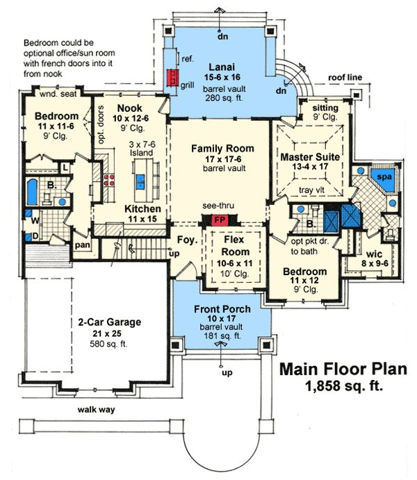 Plan w14575rk corner lot vacation craftsman northwest for Mountain vacation house plans