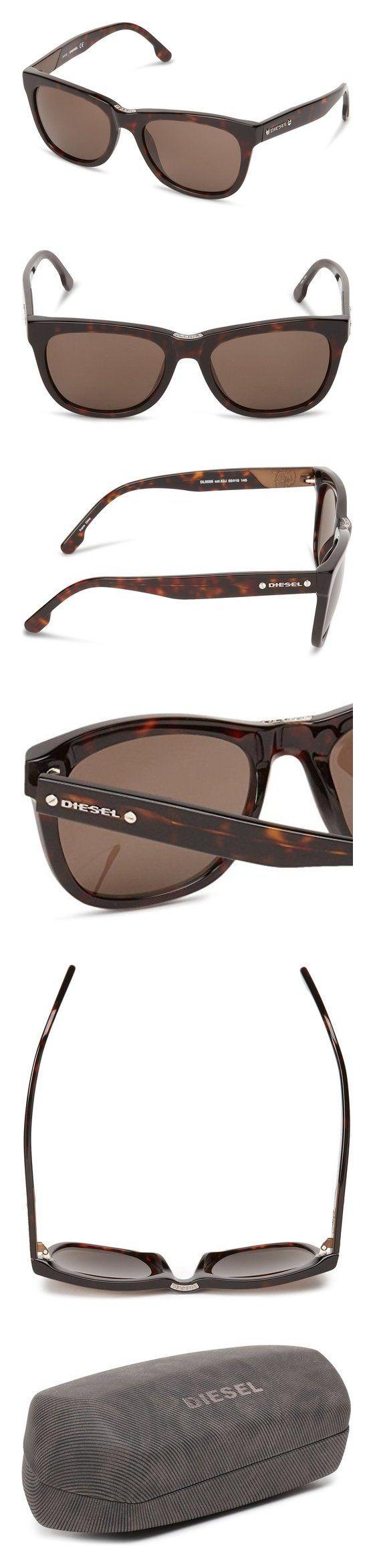$180 - Diesel Dl00555552J Wayfarer Sunglasses #sunglasses #