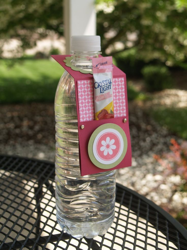 water bottle with crystal light pocket