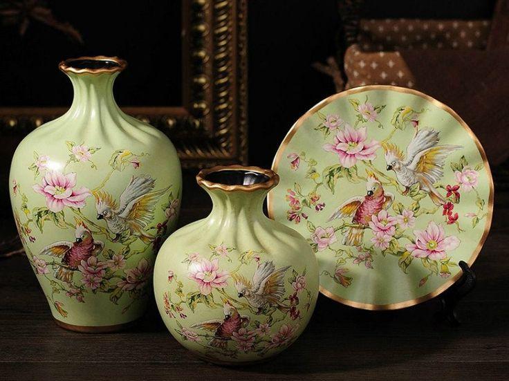 Spring Collection - 3 Piece Ceramic Vase Set - Cockatoo Meadow – Samiksha's