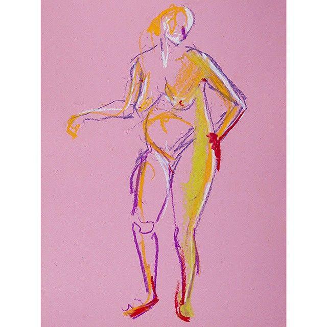5 minutes colour sketch #lifedrawing #figuredrawing #teckning #figurestudy #creative #konst #sketch #drawing #beauty #drawingoftheday #contemporaryart #konstnär #finearts #art #artwork #dibujo #dibuix #draw