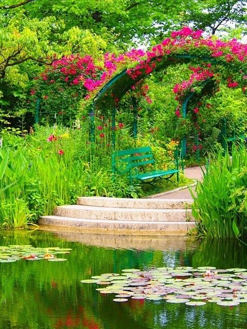 "Kitagawa Village ""Monet's Garden"" Marmottan, Kochi, Japan"