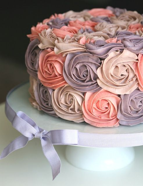 Cake Decorations Pink Roses : 25+ best ideas about Rose swirl cake on Pinterest Swirl ...