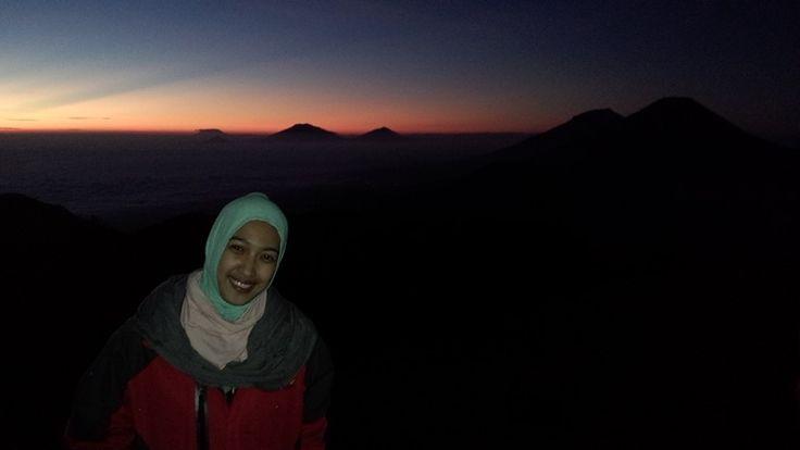 golden sunrise Mt. Prau, wonosobo, dieng