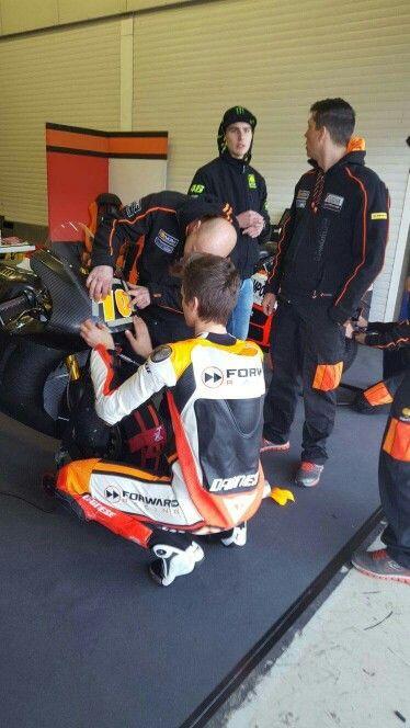 Luca, Lorenzo Baldassarri with Team