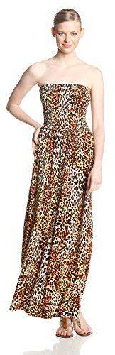 Anne Klein Women's Leopard Print Maxi Dress