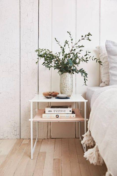 minimalist bedside table
