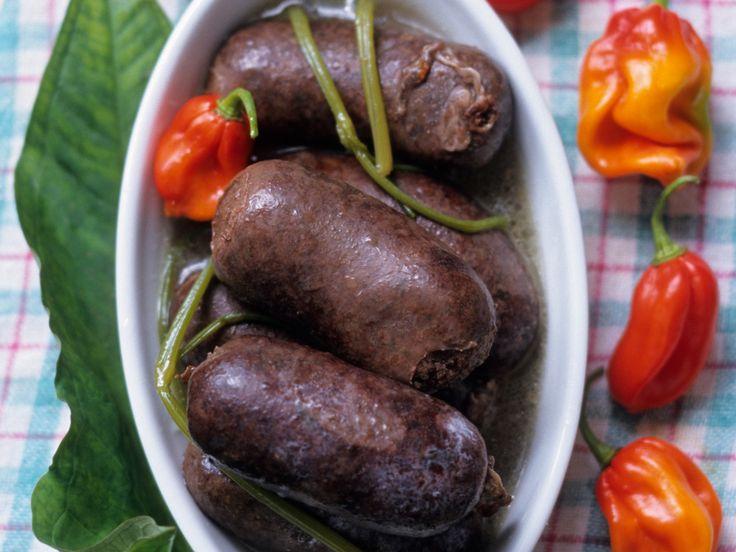 Découvrez la recette Boudin noir antillais sur cuisineactuelle.fr.
