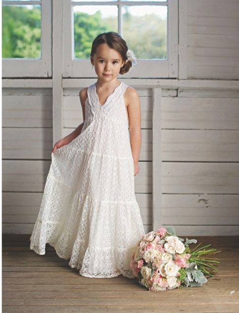 Sweet lace flowergirl dress