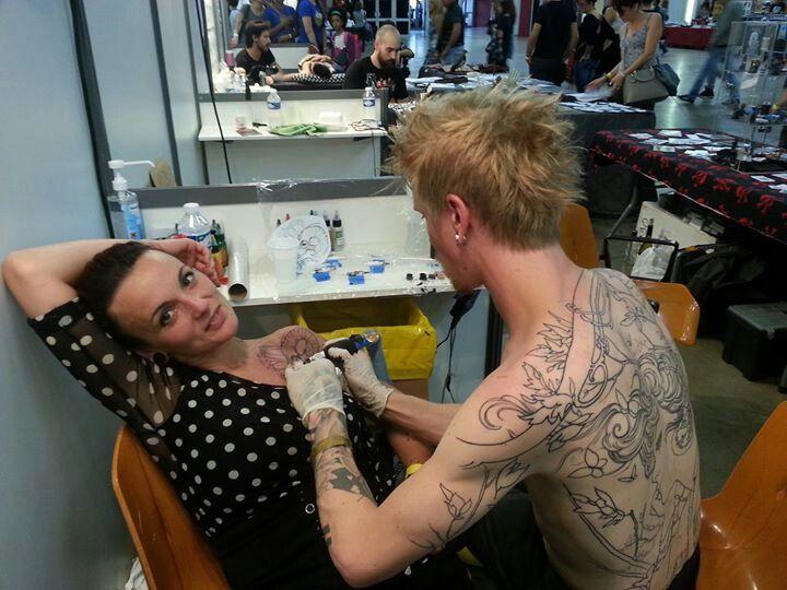 tattoo convention perpignan 2014 avec yorick fauquant