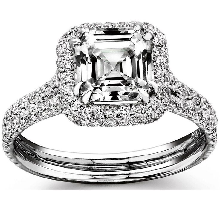 Asscher Cut Diamond Engagement Ring 2.25 Carat 18k White Gold GIA Certified #wantmydiamond