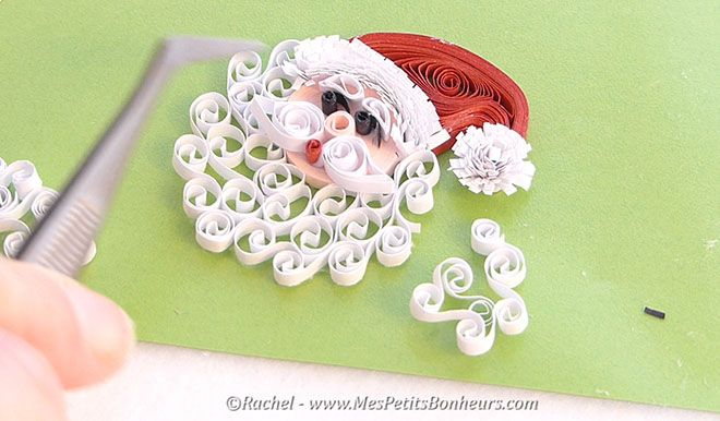 quilled father chrismas tutorial                                                                                                                                                     Plus