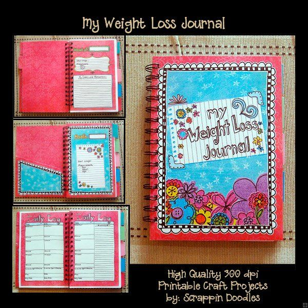 my weight loss journal companion to my planners
