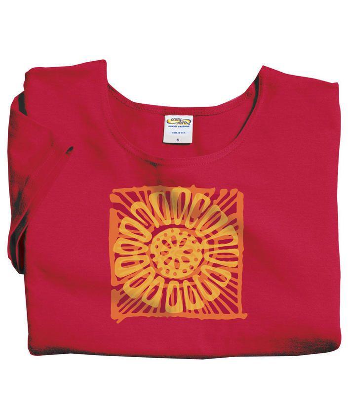 Sunny - Fuchsia Scoop-Neck T-Shirt