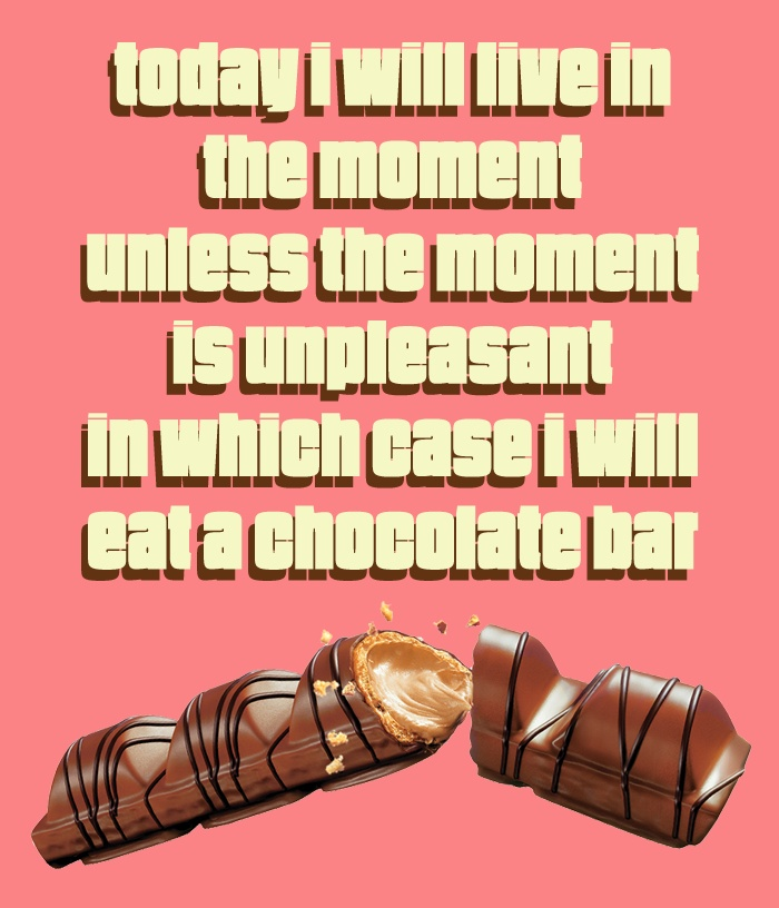 Kinder Bueno, for the daily escapes and breaks!