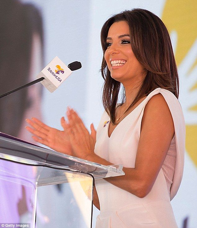 Taking the spotlight: As guest of honour at the inaugural event, Eva took to the podium to...