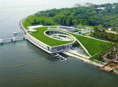 Marina Barrage green roof, Singapore