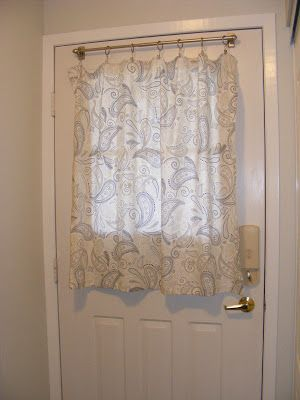 DIY: Entryway upgrade: Front door curtains